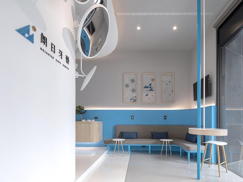 陶瓷貼片-推薦-台中-朗日牙藝-診所大廳空間